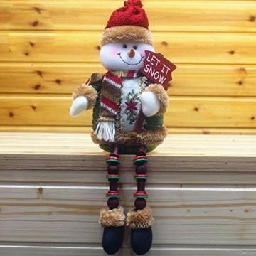 libelyef Weihnachtspuppe Sitzregal Ornamente, Plüsch Schneemann Puppe, Lange Beine Tisch Kamin Dekor Wohnkultur Weihnachtsfiguren Plüsch Für Kinder Kinder - 2