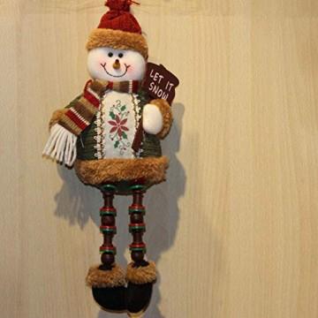 libelyef Weihnachtspuppe Sitzregal Ornamente, Plüsch Schneemann Puppe, Lange Beine Tisch Kamin Dekor Wohnkultur Weihnachtsfiguren Plüsch Für Kinder Kinder - 4