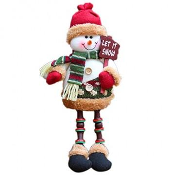 libelyef Weihnachtspuppe Sitzregal Ornamente, Plüsch Schneemann Puppe, Lange Beine Tisch Kamin Dekor Wohnkultur Weihnachtsfiguren Plüsch Für Kinder Kinder - 1