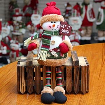 libelyef Weihnachtspuppe Sitzregal Ornamente, Plüsch Schneemann Puppe, Lange Beine Tisch Kamin Dekor Wohnkultur Weihnachtsfiguren Plüsch Für Kinder Kinder - 5