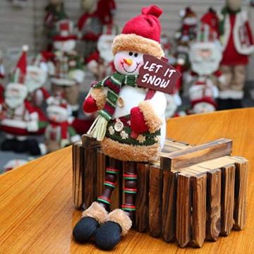 libelyef Weihnachtspuppe Sitzregal Ornamente, Plüsch Schneemann Puppe, Lange Beine Tisch Kamin Dekor Wohnkultur Weihnachtsfiguren Plüsch Für Kinder Kinder - 6