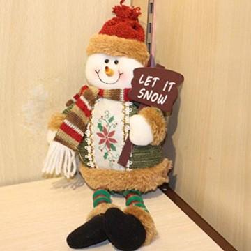 libelyef Weihnachtspuppe Sitzregal Ornamente, Plüsch Schneemann Puppe, Lange Beine Tisch Kamin Dekor Wohnkultur Weihnachtsfiguren Plüsch Für Kinder Kinder - 7