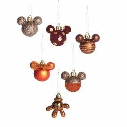 Licensed Mickey Mouse Weihnachtsbaumschmuck (Bronze, 6) - 1