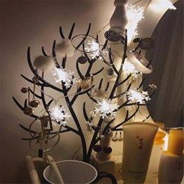 Lichterkette 1,5 M 10 LED Schneeflocke Lichter String Weihnachtsbeleuchtung Schneeflocken Lichternetz Schnur Beleuchtet Partei Hochzeits Lichterketten Weihnachten Party AußEn Innen - 1