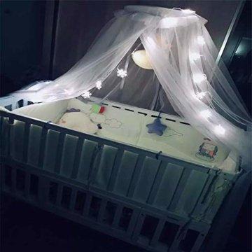 Lichterkette 1,5 M 10 LED Schneeflocke Lichter String Weihnachtsbeleuchtung Schneeflocken Lichternetz Schnur Beleuchtet Partei Hochzeits Lichterketten Weihnachten Party AußEn Innen - 4