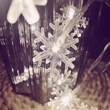 Lichterkette 1,5 M 10 LED Schneeflocke Lichter String Weihnachtsbeleuchtung Schneeflocken Lichternetz Schnur Beleuchtet Partei Hochzeits Lichterketten Weihnachten Party AußEn Innen - 5