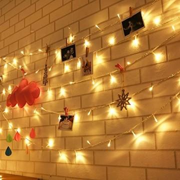 Lichterkette 200 Leds 22 Meter mit EU-Stecker von DC 31V Niederspannungstransformator und 8 Programm für Party, Halloween, Hochzeit, Beleuchtung Deko warmweiß von Uping [Energieklasse A+++] - 3
