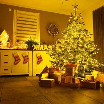 Lichterkette Moobibear 30M 300 LEDKupferdraht LichterketteInnen und Außen Wasserdicht Drahtlichterketten für Weihnachten Garten Terrasse Dekoration - Warmweiß - 4