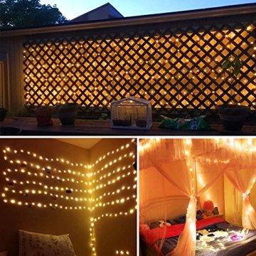 Lichterkette Moobibear 30M 300 LEDKupferdraht LichterketteInnen und Außen Wasserdicht Drahtlichterketten für Weihnachten Garten Terrasse Dekoration - Warmweiß - 5