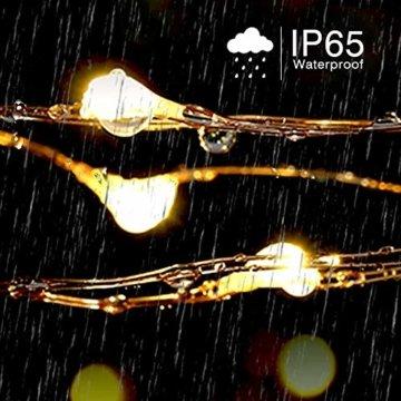 Lichterkette Moobibear 30M 300 LEDKupferdraht LichterketteInnen und Außen Wasserdicht Drahtlichterketten für Weihnachten Garten Terrasse Dekoration - Warmweiß - 6