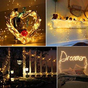 Lichterkette Moobibear 30M 300 LEDKupferdraht LichterketteInnen und Außen Wasserdicht Drahtlichterketten für Weihnachten Garten Terrasse Dekoration - Warmweiß - 7