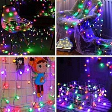 Lichterkette strombetrieben B-right 100 LED Globe Lichterkette, Lichterkette bunt, Innen- Außen Lichterkette glühbirne Fernbedienung,Weihnachtsbeleuchtung für Weihnachten Hochzeit Party Weihnachtsbaum - 3
