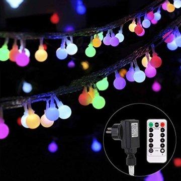 Lichterkette strombetrieben B-right 100 LED Globe Lichterkette, Lichterkette bunt, Innen- Außen Lichterkette glühbirne Fernbedienung,Weihnachtsbeleuchtung für Weihnachten Hochzeit Party Weihnachtsbaum - 1