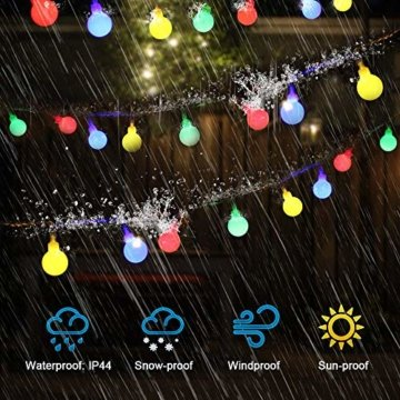 Lichterkette strombetrieben B-right 100 LED Globe Lichterkette, Lichterkette bunt, Innen- Außen Lichterkette glühbirne Fernbedienung,Weihnachtsbeleuchtung für Weihnachten Hochzeit Party Weihnachtsbaum - 8