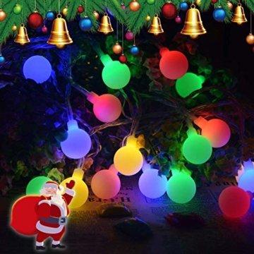 Lichterkette strombetrieben B-right 100 LED Globe Lichterkette, Lichterkette bunt, Innen- Außen Lichterkette glühbirne Fernbedienung,Weihnachtsbeleuchtung für Weihnachten Hochzeit Party Weihnachtsbaum - 9