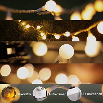 Lichterkette, von myCozyLite, LED Lichterkette mit timer, EU Stecker, 15m, 100er, Globe, Warmweiß, Weihnachtsbaum Deko, für Innen und Außen, erweiterbar, mit 31V DC Niederspannungs-Transformator - 2