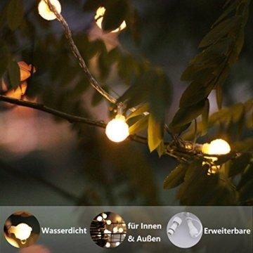Lichterkette, von myCozyLite, LED Lichterkette mit timer, EU Stecker, 15m, 100er, Globe, Warmweiß, Weihnachtsbaum Deko, für Innen und Außen, erweiterbar, mit 31V DC Niederspannungs-Transformator - 4