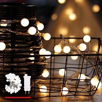Lichterkette, von myCozyLite, LED Lichterkette mit timer, EU Stecker, 15m, 100er, Globe, Warmweiß, Weihnachtsbaum Deko, für Innen und Außen, erweiterbar, mit 31V DC Niederspannungs-Transformator - 1