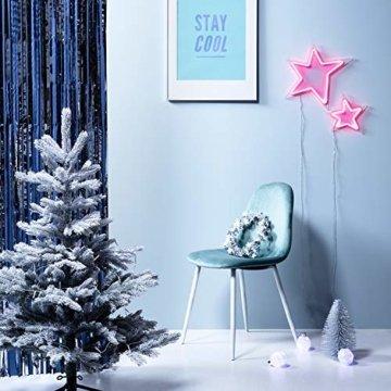 Lights4fun 30cm Sternen Weihnachtskranz mit 20er LED Micro Lichterkette weiß Timer - 3