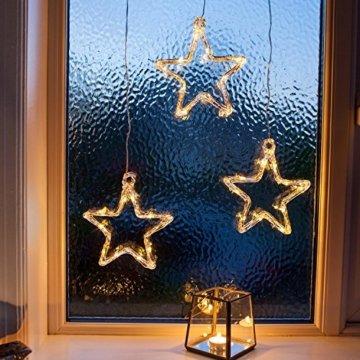 Lights4fun LED Stern Fensterdeko Weihnachtsdeko Timer Batteriebetrieb - 1