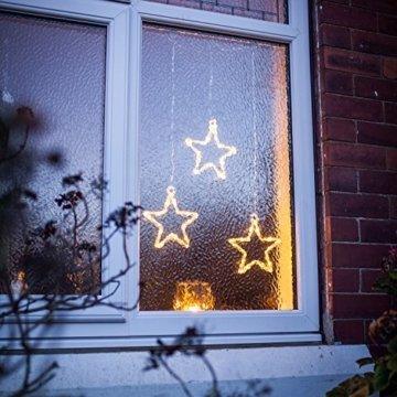 Lights4fun LED Stern Fensterdeko Weihnachtsdeko Timer Batteriebetrieb - 2