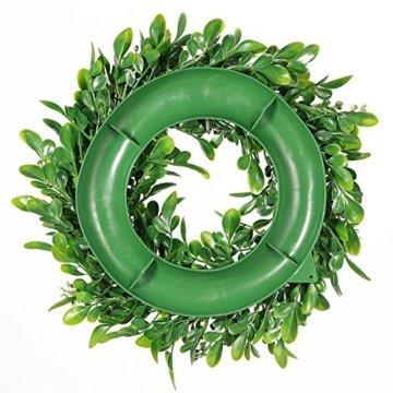 LinTimesTürkranz Wandkranz, Girlande Künstlich Pflanze mit Blumen und grünen Blättern für HochzeitenZuhause, Parties, Türen Und Feste - Grün - 5