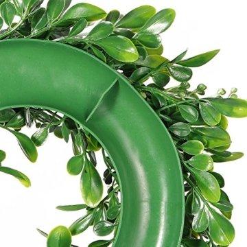 LinTimesTürkranz Wandkranz, Girlande Künstlich Pflanze mit Blumen und grünen Blättern für HochzeitenZuhause, Parties, Türen Und Feste - Grün - 6