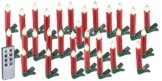 Lunartec Baumkerzen: 30er-Set LED-Weihnachtsbaum-Kerzen mit IR-Fernbedienung, rot (Kabellose Christbaumkerzen) - 1