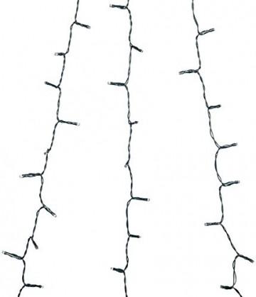 Lunartec Überwurflichterkette: Weihnachtsbaum-Überwurf-Lichterkette mit 6 Girlanden & 240 LEDs, IP44 (Baum Lichterkette mit Ring) - 4