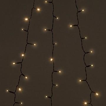 Lunartec Überwurflichterkette: Weihnachtsbaum-Überwurf-Lichterkette mit 6 Girlanden & 240 LEDs, IP44 (Baum Lichterkette mit Ring) - 6