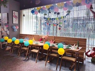 Metallische Lametta Vorhänge/Folie Hintergrund Fringe Vorhänge für Geburtstag Party/Hochzeit, DIY Photo Booth Dekorationen, Tür Fenster Hintergrund Foto Requisiten für Festival(1x2.5m) - 3