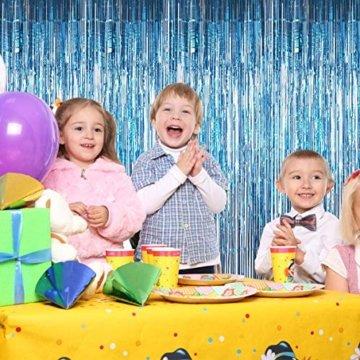 Metallische Lametta Vorhänge/Folie Hintergrund Fringe Vorhänge für Geburtstag Party/Hochzeit, DIY Photo Booth Dekorationen, Tür Fenster Hintergrund Foto Requisiten für Festival(1x2.5m) - 4