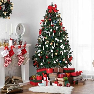 MVPOWER 20er Weinachten LED Kerzen Kabellos Warmweiß Weihnachtskerzen Christbaumkerzen Dimmen Flackern Baumkerze-Set,LED-Lichtfarbe Warmweiß - 2