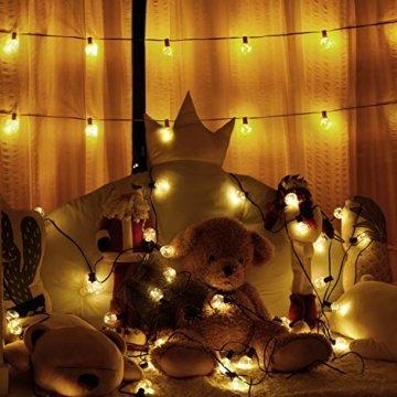 MYCARBON LED Lichterkette außen 12.5M 36er Birnen wasserdicht Lichterkette Outdoor/Indoor Lichterkette Glühbirnen mit stecker Deko für Garten Zimmer Bar Balkon Party 4 Ersatzbirnen Warmweiß - 8