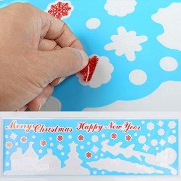 Naler Weihnachten Fensterbild Abnehmbare Fensterdeko Statisch Haftende PVC Aufkleber Winter Dekoration - 3