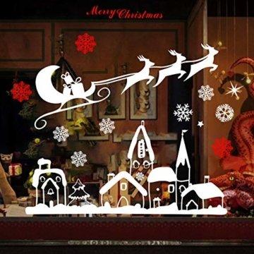 Naler Weihnachten Fensterbild Abnehmbare Fensterdeko Statisch Haftende PVC Aufkleber Winter Dekoration - 1