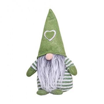 Non-Woven-Hut mit Herz Handmade Gnome Santa Weihnachtsfiguren Ornament Holiday Table Decor Festliche Gegenwart Balight - 3