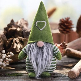 Non-Woven-Hut mit Herz Handmade Gnome Santa Weihnachtsfiguren Ornament Holiday Table Decor Festliche Gegenwart Balight - 1