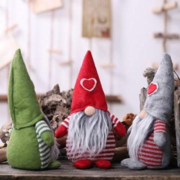 Non-Woven-Hut mit Herz Handmade Gnome Santa Weihnachtsfiguren Ornament Holiday Table Decor Festliche Gegenwart Balight - 5