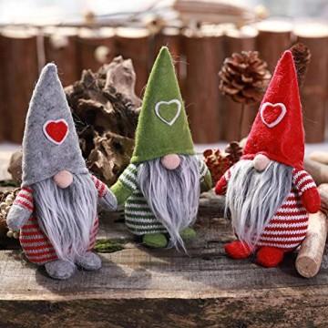 Non-Woven-Hut mit Herz Handmade Gnome Santa Weihnachtsfiguren Ornament Holiday Table Decor Festliche Gegenwart Balight - 7