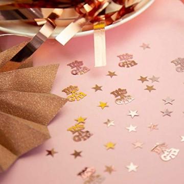 Oblique Unique® Stern Konfetti Roségold Über 500 STK. Streu Deko Tischdeko für Weihnachten Geburtstag Fasching Karneval Party - 2