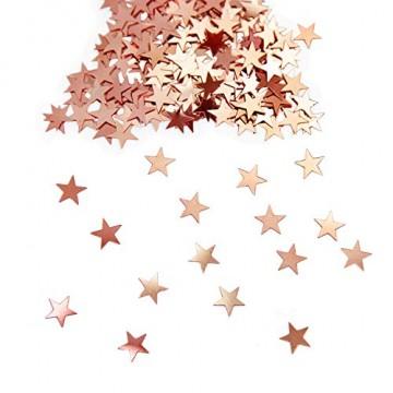 Oblique Unique® Stern Konfetti Roségold Über 500 STK. Streu Deko Tischdeko für Weihnachten Geburtstag Fasching Karneval Party - 1