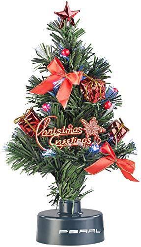 PEARL Mini Weihnachtsbaum: USB-Weihnachtsbaum mit LED-Farbwechsel-Glasfaserlichtern (Weihnachtsbaum fürs Auto) - 2