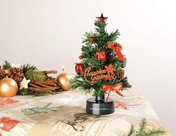 PEARL Mini Weihnachtsbaum: USB-Weihnachtsbaum mit LED-Farbwechsel-Glasfaserlichtern (Weihnachtsbaum fürs Auto) - 4