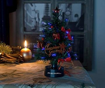 PEARL Mini Weihnachtsbaum: USB-Weihnachtsbaum mit LED-Farbwechsel-Glasfaserlichtern (Weihnachtsbaum fürs Auto) - 5