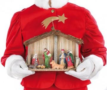 PEARL Weihnachtskrippe: Weihnachts-Krippe (10-teilig) mit handbemalten Porzellan-Figuren (Weihnachtskrippen Figuren) - 5