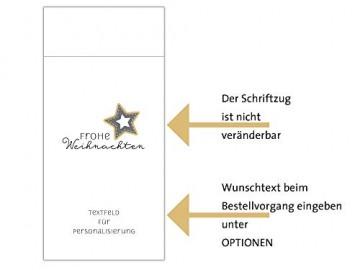 Personalisierbare Bestecktasche Frohe Weihnachten elegant weiß Setpreis für 10 Stück - 3