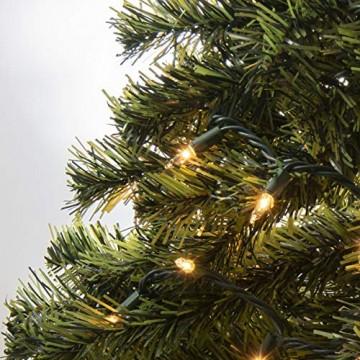 Prextex 180cm große hochwertige klappbare künstliche kanadische Fichte als Weihnachtsbaum, geringes Gewicht und leichter Aufbau mit Christbaumständer - 3