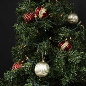 Prextex 180cm große hochwertige klappbare künstliche kanadische Fichte als Weihnachtsbaum, geringes Gewicht und leichter Aufbau mit Christbaumständer - 4