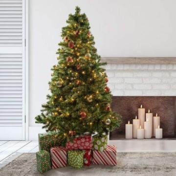Prextex 180cm große hochwertige klappbare künstliche kanadische Fichte als Weihnachtsbaum, geringes Gewicht und leichter Aufbau mit Christbaumständer - 5